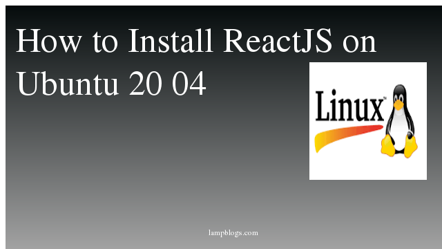 How to Install ReactJS on Ubuntu 20 04