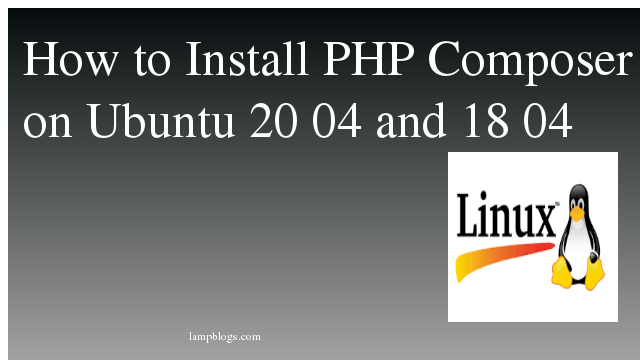 How to Install PHP Composer on Ubuntu 20 04 and 18 04