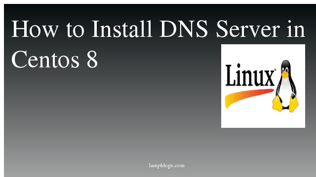 How to Install DNS  Server in Centos 8